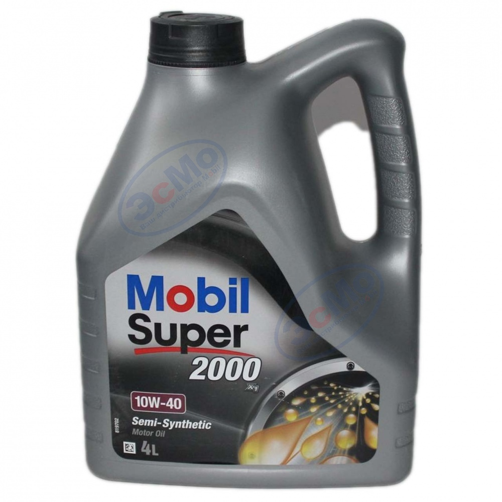 Моторное масло Mobil Super 2000 X1 10W40  4 л